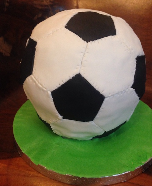 Howtocookthat Cakes Dessert Chocolate Soccer Ball Cake