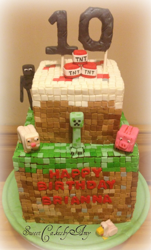 Stupendous Howtocookthat Cakes Dessert Chocolate 3D Minecraft Fondant Personalised Birthday Cards Paralily Jamesorg