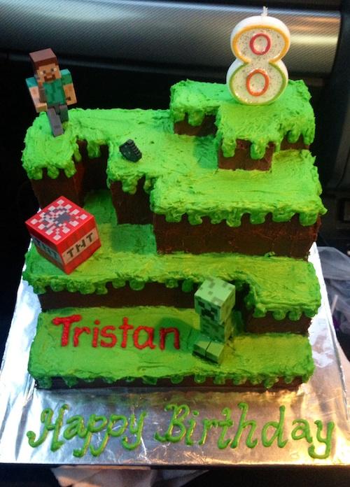 Minecraft Creeper Cake Instructions