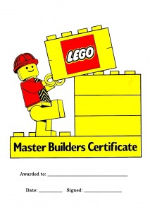 lego party builders certificate