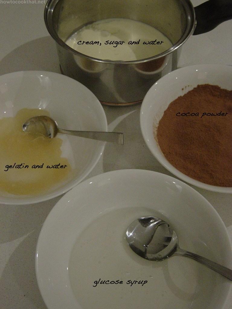 chocolate glacage glaze glassage ingredients