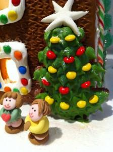 gingerbread house christmas tree