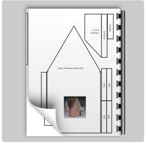 gingerbread house printable plans