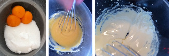 home made ice cream whisk egg yolks and sugar