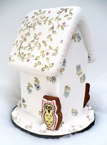 gingerbread house owl