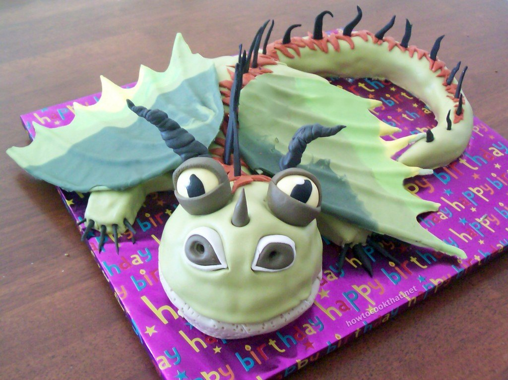 Cake Birthday How To Train Your Dragon Fondant Cook That Ann Reardon 2