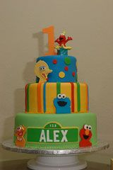 first birthday cake ideas sesame street