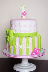 first birthday cake ideas elegant girl