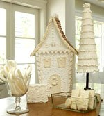 white gingerbread house ideas