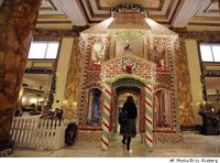 huge ginger bread house