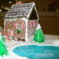 ginger bread house idea for trees