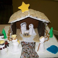ginger bread house nativity