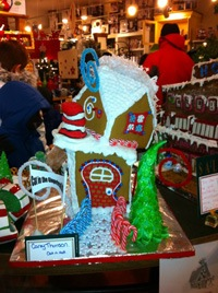 cat in the hat gingerbread house
