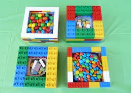 candy in lego containers