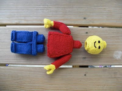 knitted lego man