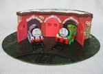 gordon and percy roundhouse train birthday cake