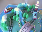 thomas the tank engine train birthday cake