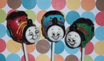 thomas the tank engine train cake pops