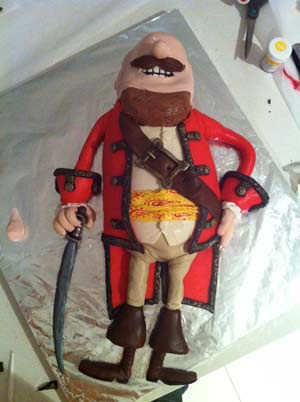 pirates band of misfits amazing cake pirate captain