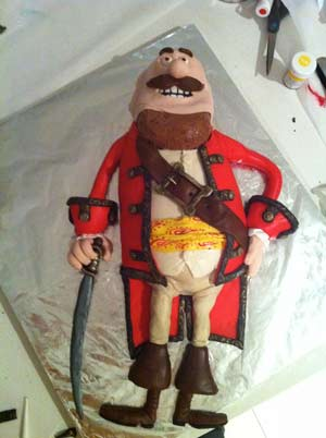 pirates band of misfits amazing pirate captain cake