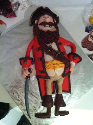pirates band of misfits amazing pirate captain cake fondant 3D