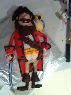 pirates band of misfits amazing pirate captain cake dodo fondant