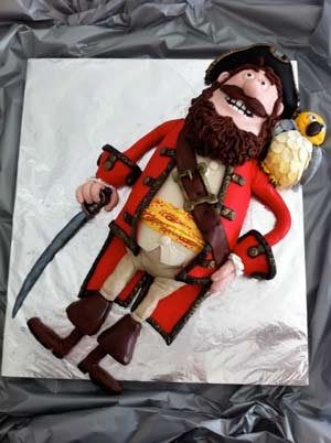 pirates band of misfits amazing pirate captain cake 3D fondant cake artist