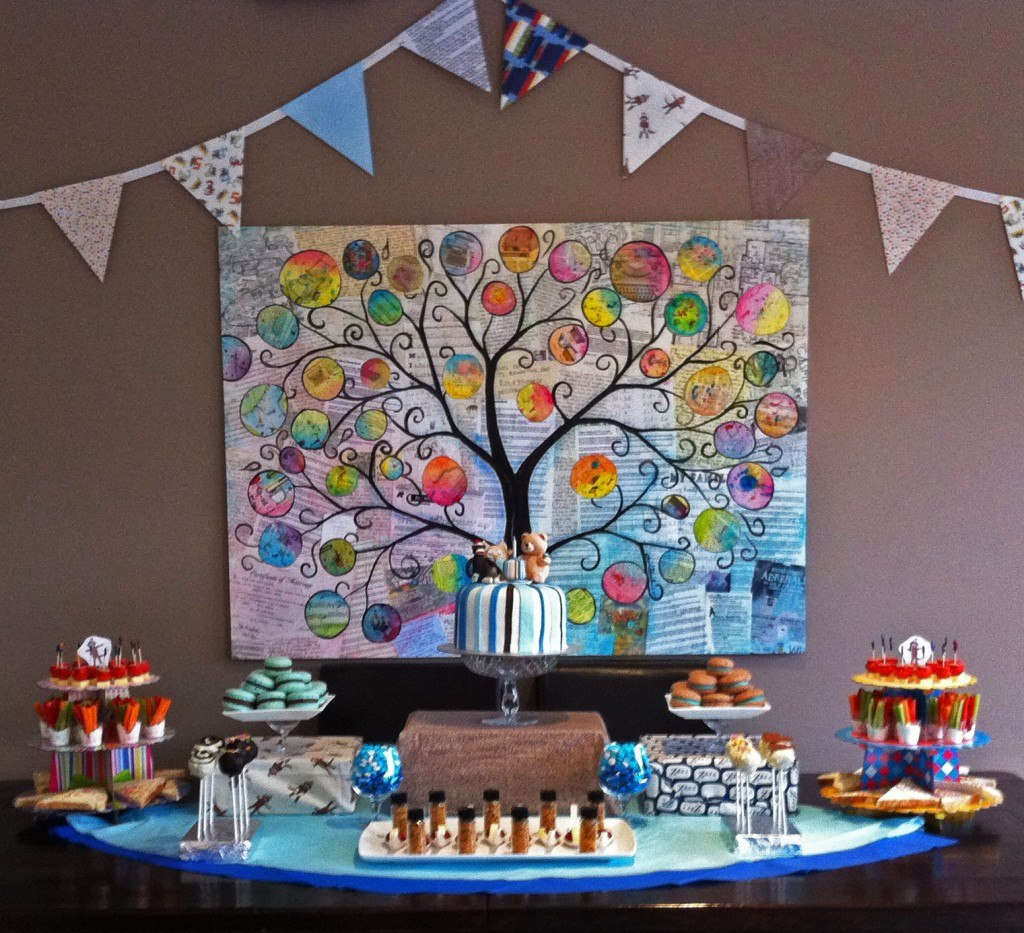 1st birthday party ideas dessert buffet sock monkey owl teddy bear