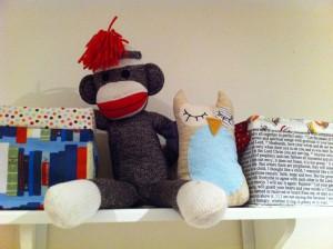 first birthday ideas sock monkey owl