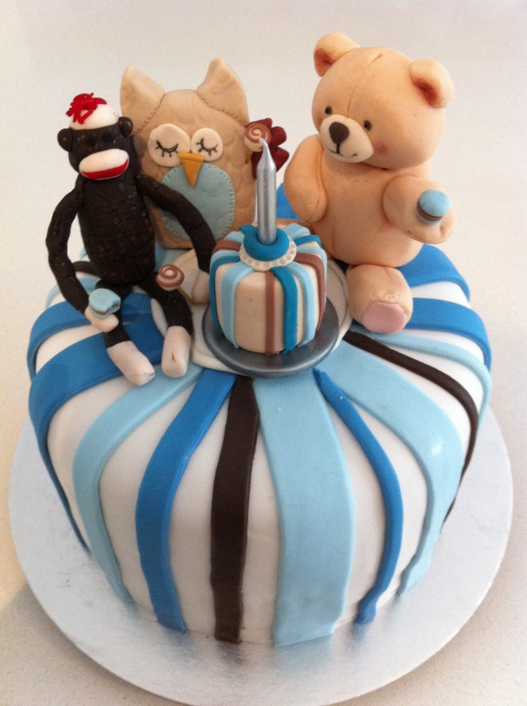 fondant 1st birthday cake ideas