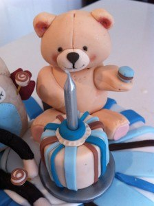 first birthday cake ideas fondant teddy bear