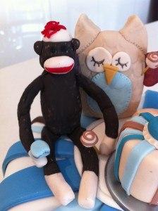 first birthday party ideas fondant sock monkey