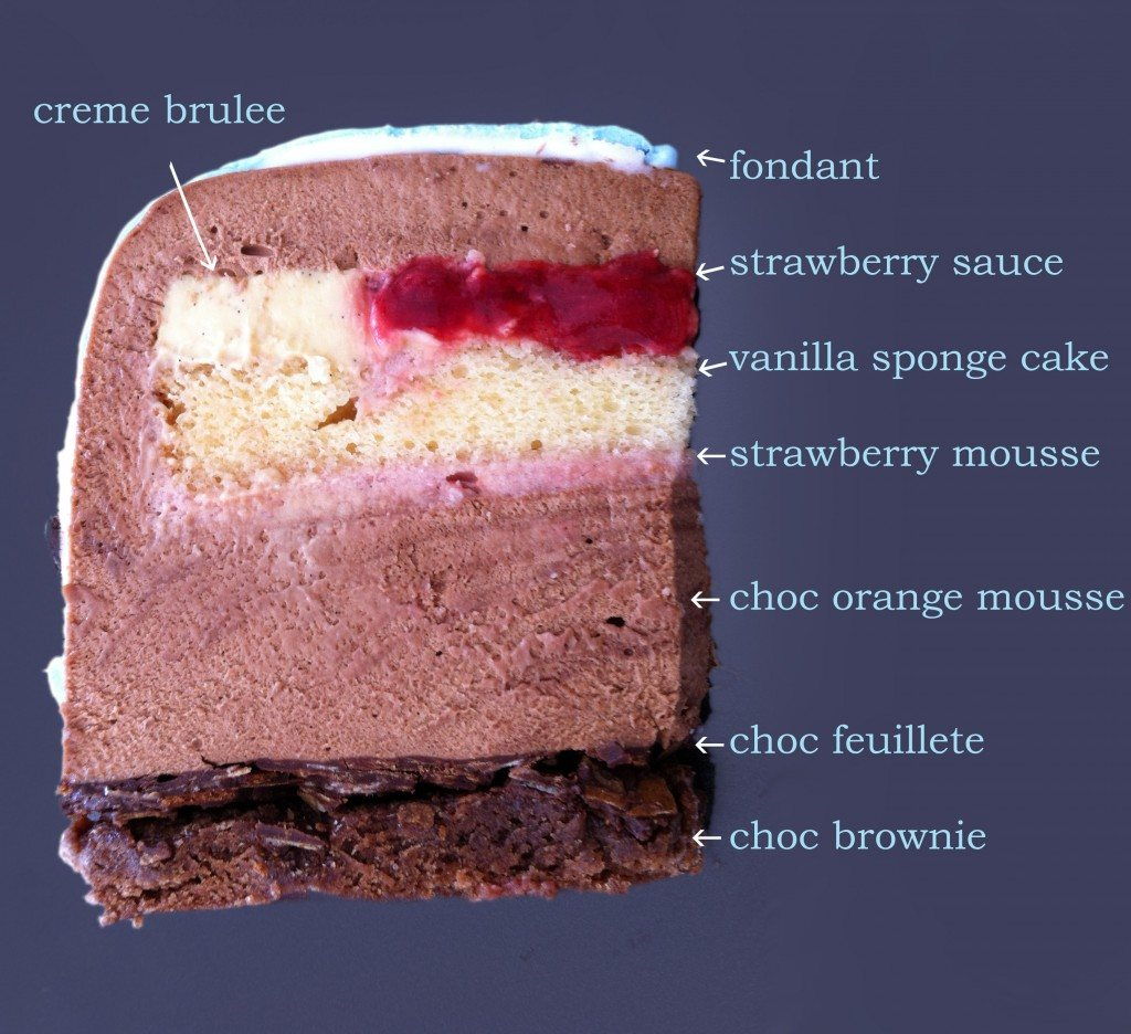 Frozen Strawberry Mousse For Layer Cake