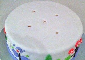 tiered firstt birthday cake