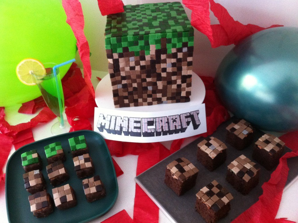 how to make a 3d minecraft fondant cake