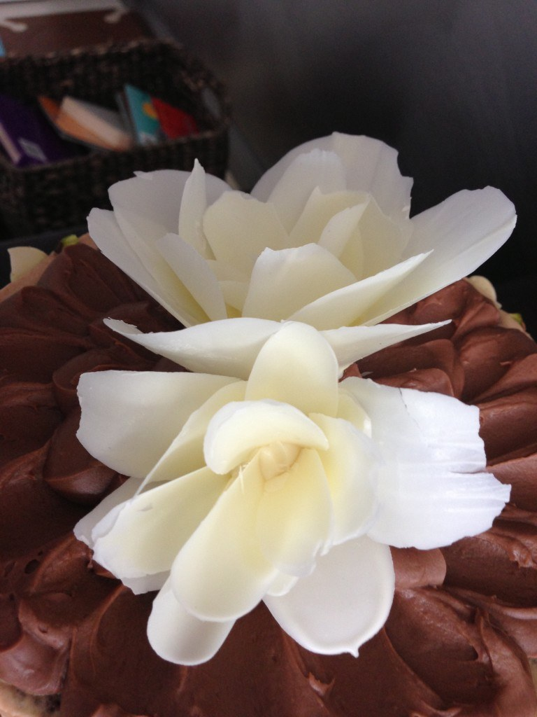 how to make a chocolate flower