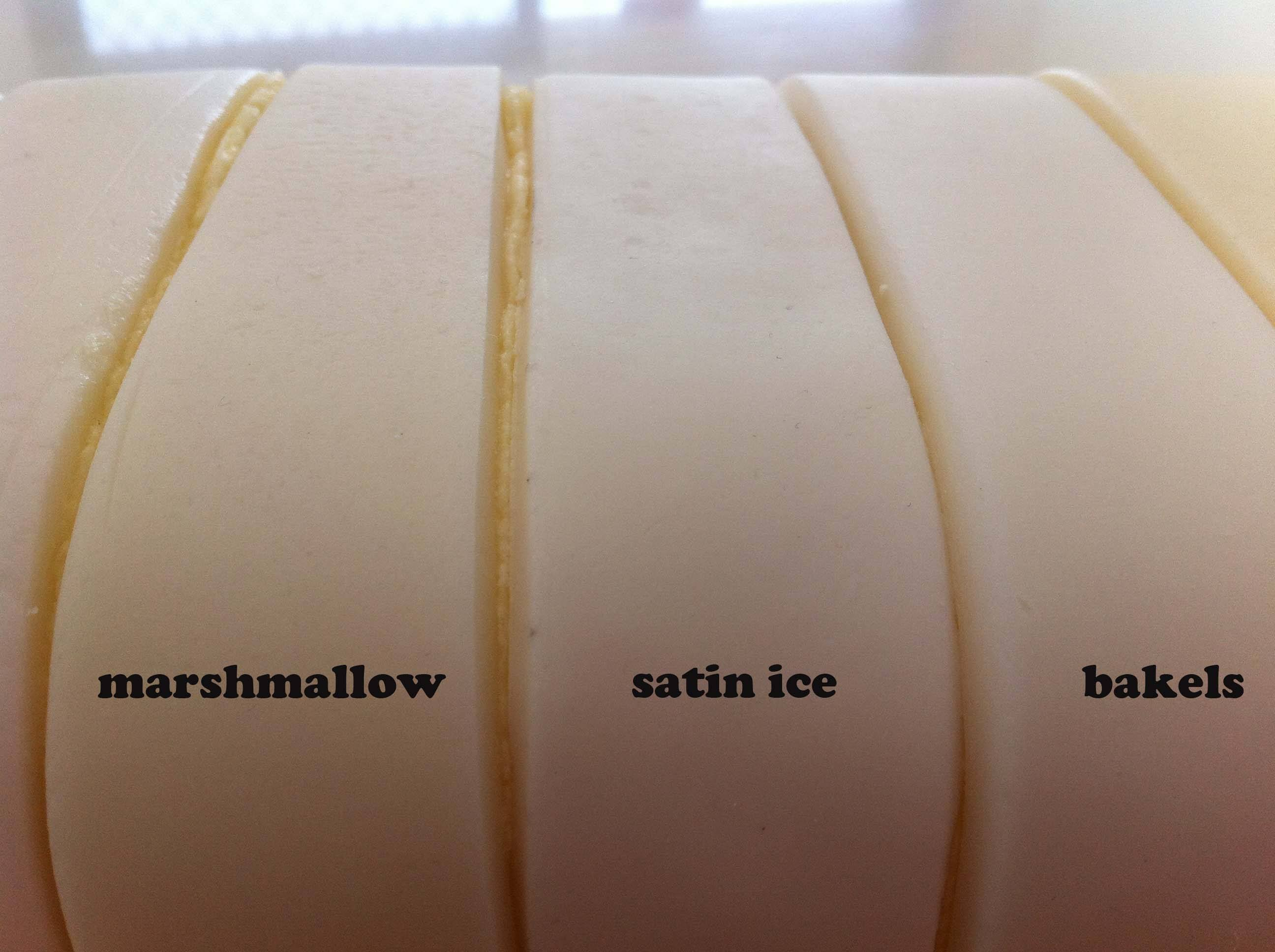 fondant review satin ice bakels petinice marshmallow