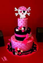 girls pirate princess cake