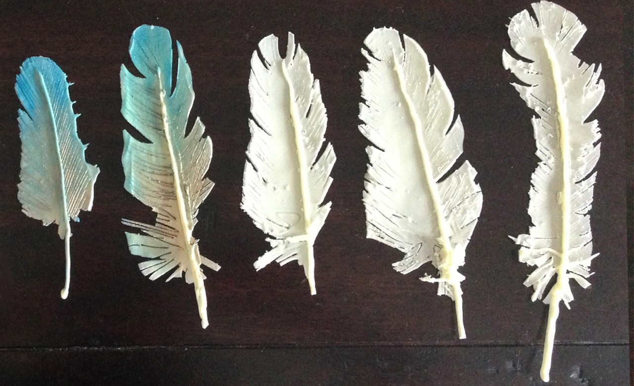 chocolate feathers cake topper decoration - Chocolate Decorations