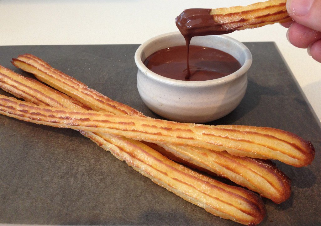 howtocookthat cakes dessert chocolate churros. Black Bedroom Furniture Sets. Home Design Ideas
