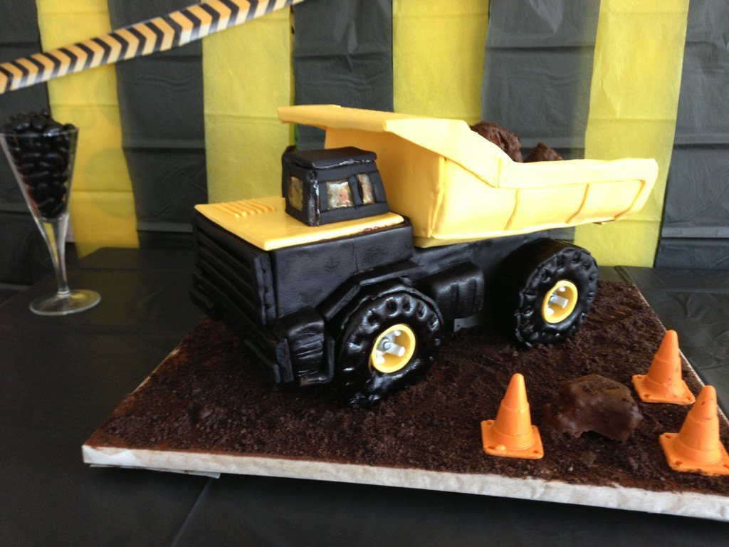 truck cake construction party