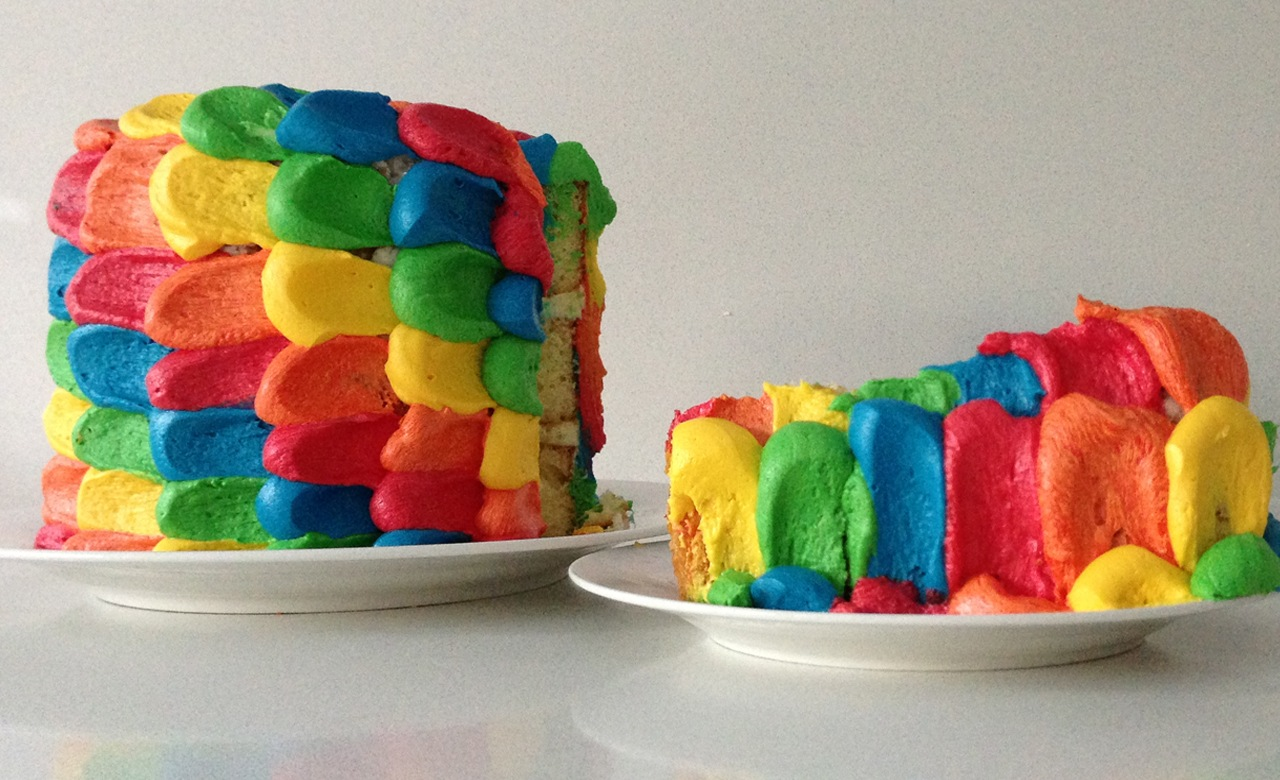 Rainbow Marble Cake Recipe For Kids