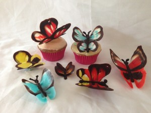 chocolate butterflies by Ann Reardon