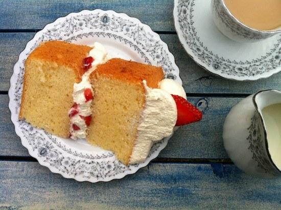 Recipe Light Fluffy Plain Cake: HowToCookThat : Cakes, Dessert & Chocolate