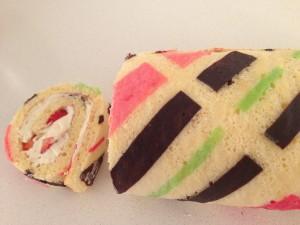 patterned roll cake recipe ann reardon