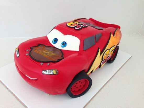 Lightning Mcqueen Ice Cream Cake