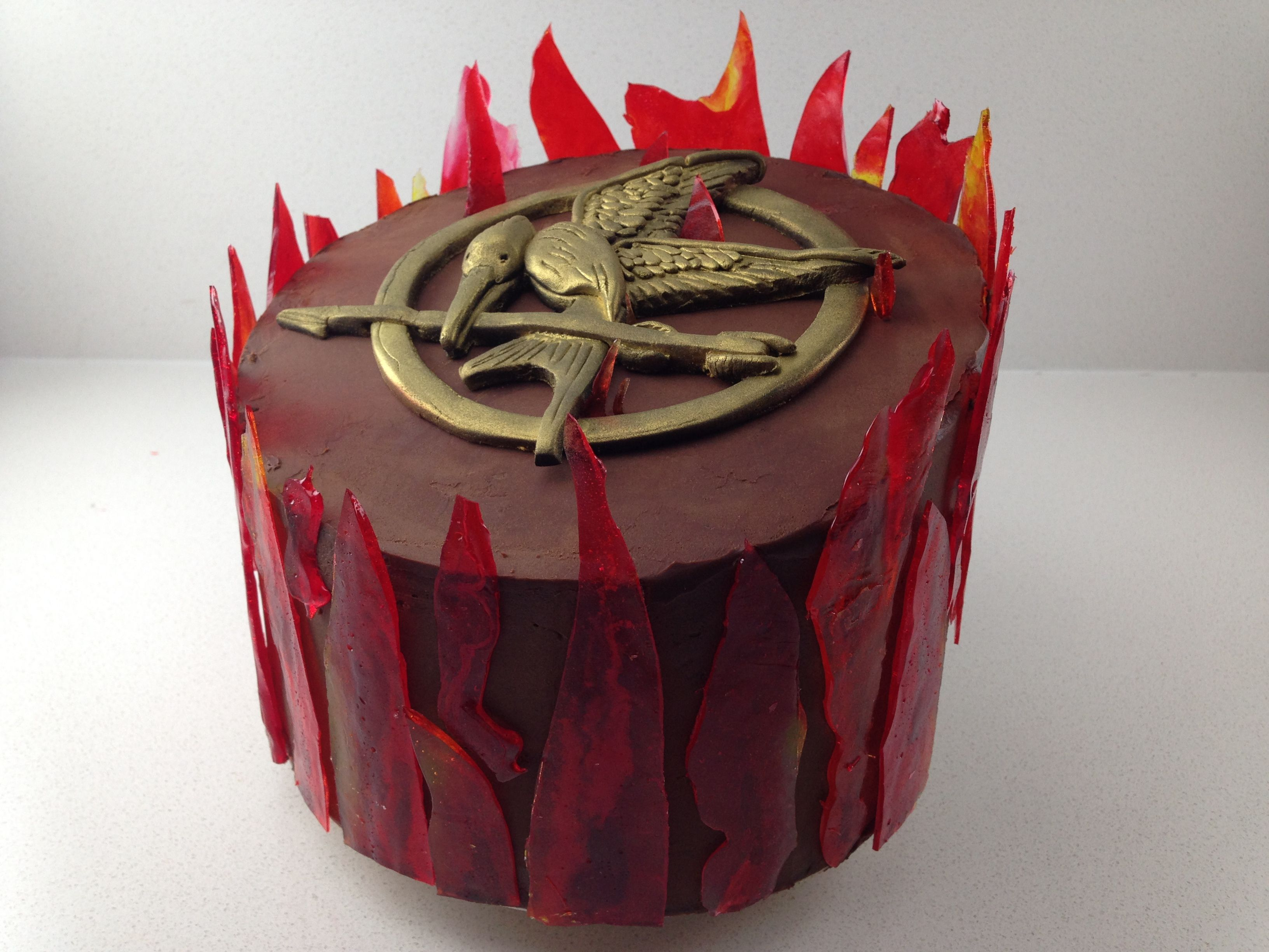 Groovy Howtocookthat Cakes Dessert Chocolate Hunger Games Cake Funny Birthday Cards Online Elaedamsfinfo