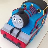 train cake template