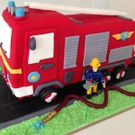 fire truck engine birthday cake