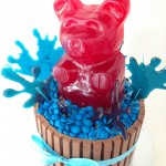 ginat gummy bear kit kat m&m cake